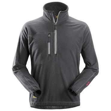 Snickers 8013 A.I.S 1/2 Zip Pullover Fleece Jacket - Steel Grey