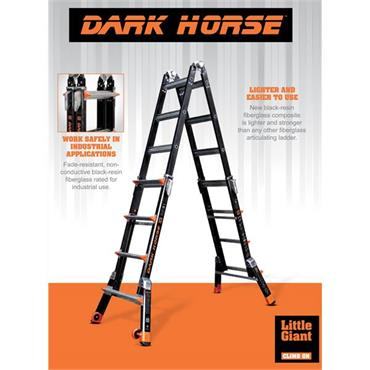 Little Giant 1303-126 4 Steps Dark Horse Fibreglass Multi-Use Ladder