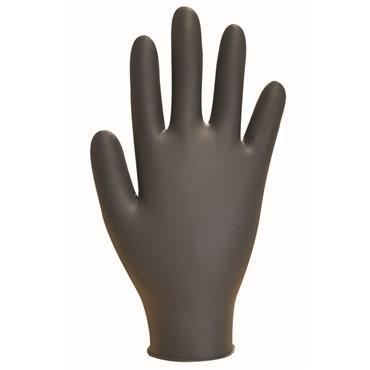 Polyco GL897 Black Nitrile Disposable Gloves Box of 100