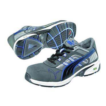Puma Pace Low S1P Grey/Blue Safety Trainers
