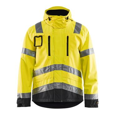 Blaklader 4837 Waterproof  High-Visibility Jacket - Yellow/Black