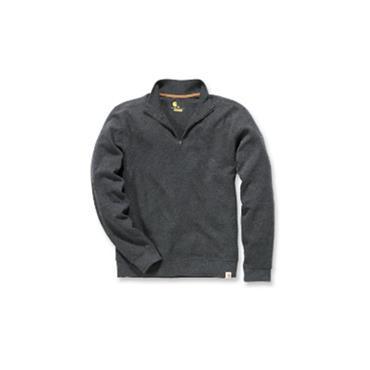 Carhartt 100007 Quarter-Zip Knit Sweater Heather - Black