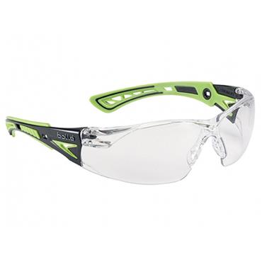 Bolle RUSHPPSIG Rush+ Green Safety Glasses - Clear