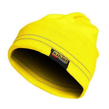Blaklader 2007 High-Visibility Reflective Beanie - Yellow