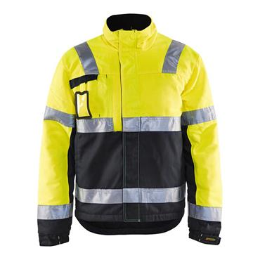 Blaklader 4862 High-Visibility Winter Jacket - Yellow/Black