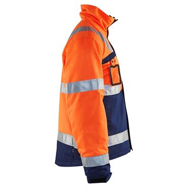 Blaklader 4862 High-Visibility Winter Jacket - Orange/Navy Blue