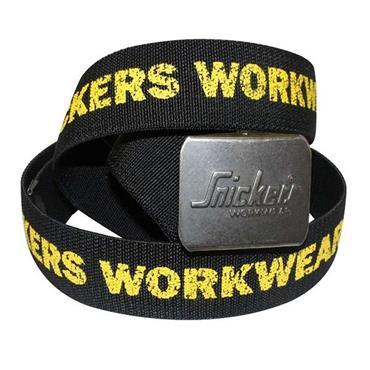 Snickers 9005 Ergonomic Logo Belt - Black