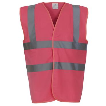 CITEC HVW100 High-Visibility Two Band and Braces Waistcoat - Pink