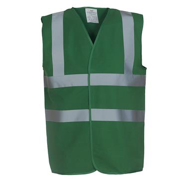 CITEC HVW100 High-Visibility Two Band and Braces Waistcoat - Green