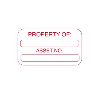 "CITEC ""PROPERTY OF: ASSET NO:"" Labels 50x25mm - Roll of 250"