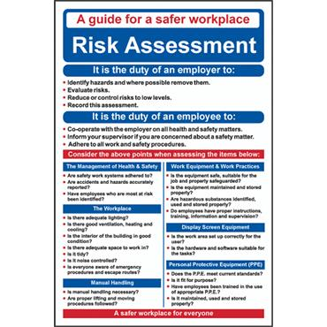 "CITEC ""RISK ASSESSMENT"" 400 x 600mm RPVC Safety Poster"