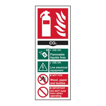 CITEC 12310 82 x 200mm Self Adhesive Vinyl Safety Sign Label