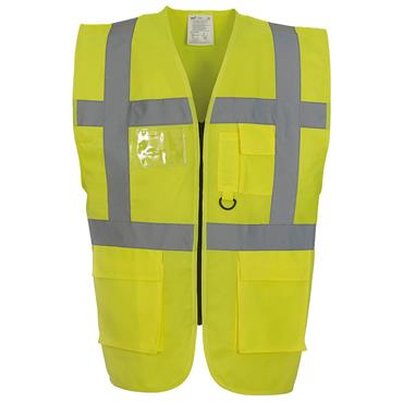 CITEC HVW801 High-Visibility Executive Vest/Waistcoat - Yellow