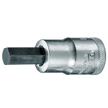 "Gedore IN 19 Hex Screwdriver Bit 1/2"" Drive Socket - Metric"