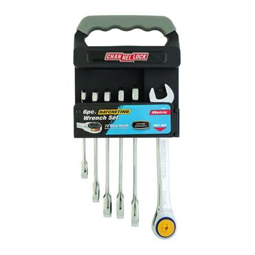 Channellock 38041 6 Piece Metric Ratchet Combination Wrench Set