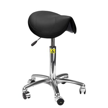 Rhodes + Scholes AS.Saddle Black Static Dissipative Saddle Stool