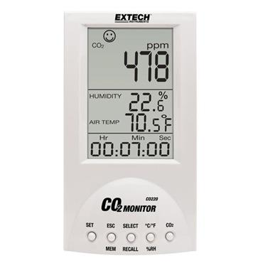 Extech CO220 Desktop Indoor Air Quality Monitor