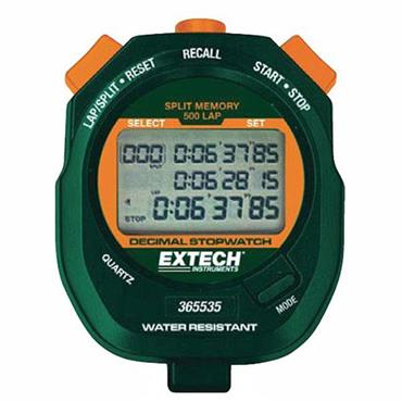 Extech 365535 Waterproof Decimal Stopwatch/Clock