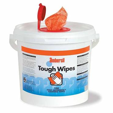 AMBERSIL Tough Wipes Tube of 100