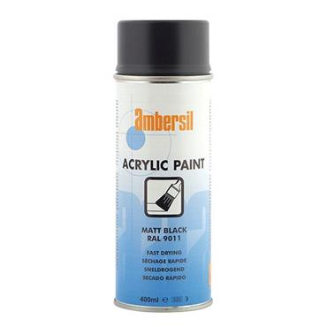 AMBERSIL Acrylic Paint Matt Black 400ml RAL9011