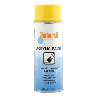 AMBERSIL Acrylic Paint Yellow 400ml RAL1018