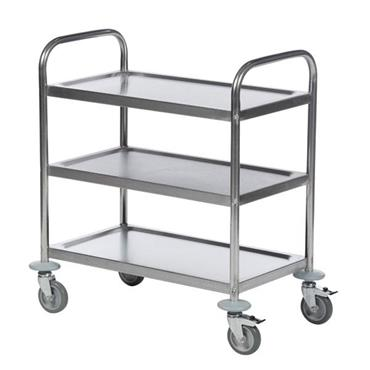 KM 3-Shelf Stainless Steel Trolley