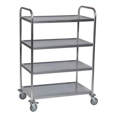 KM 60356 4-Shelf Stainless Steel Trolley