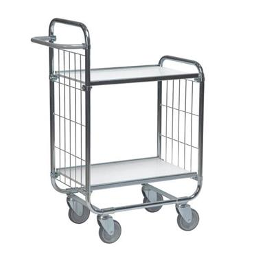 KM 8000-2L 2-Shelf Electro Galvanized/White Flexible Large Trolley