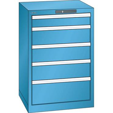 Lista 14.256.0100 5-Drawer Light Blue Storage Cabinet