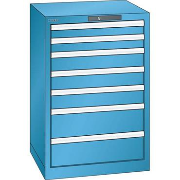 Lista 14.252.0100 7-Drawer Light Blue Storage Cabinet