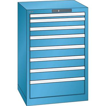Lista 14.250.0100 8-Drawer Light Blue Storage Cabinet