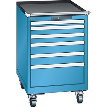Lista 14.247.0100 6-Drawer Light Blue Storage Cabinet