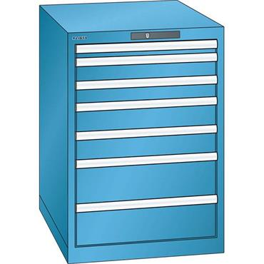 Lista 14.354.0100 7-Drawer Light Blue Storage Cabinet