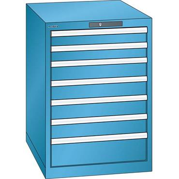 Lista 14.367.0100 7-Drawer Light Blue Storage Cabinet
