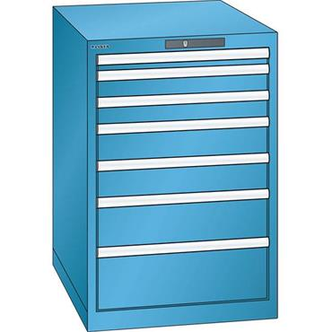 Lista 14.404.0100 7-Drawer Light Blue Storage Cabinet