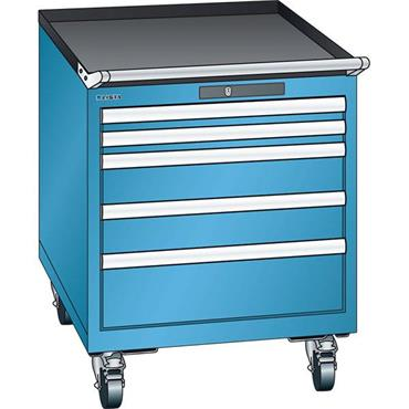 Lista 14.372.0100 7-Drawer Light Blue Storage Cabinet