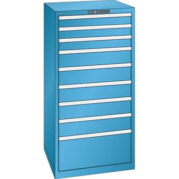 Lista 14.511.0100 9-Drawer Light Blue Storage Cabinet