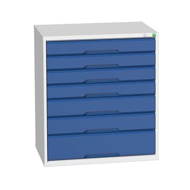Bott 16925129.11 	7-Drawer Blue Verso Cabinet