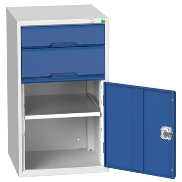 Bott 16925037.11 2-Drawer Light Grey/Blue Combination Cupboard