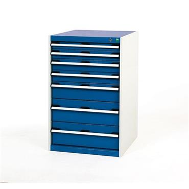 Bott 400 19 063 7-Drawer Blue Cubio Cabinet
