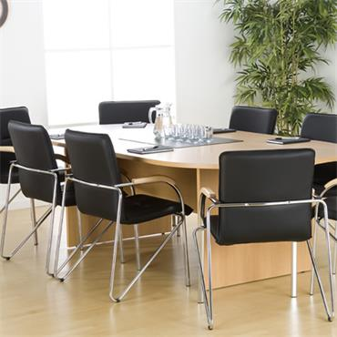 CITEC XBTD24 Beech D-Ended Boardroom Table