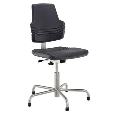 Score 801 Black Stainless Steel Line Chair