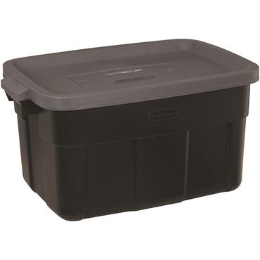 Rubbermaid Roughneck 3 Gal. Black Storage Tote