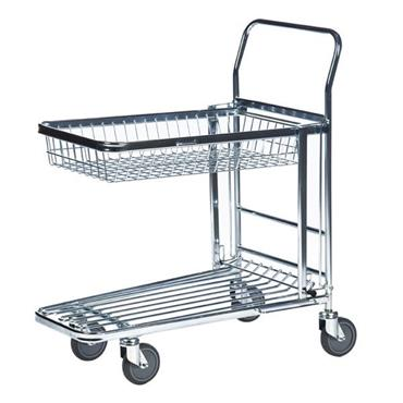 KM 4202-K 2-Shelf Electro Galvanized Shopping Trolley