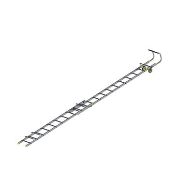 Werner Double Section Aluminium Roof Ladder