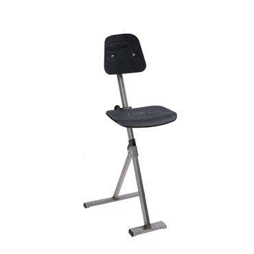 Global 752020 Black Stainless Steel Inox Sit Stand Chair
