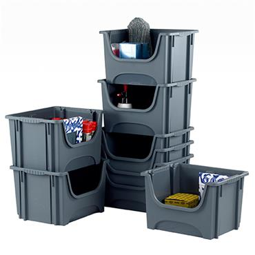 Top Store E54SB/5 50 Litre Space Bin Containers - Pack of 5