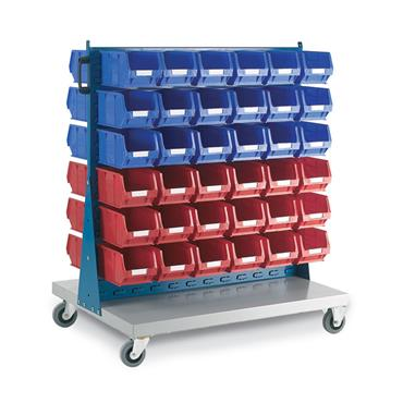 Citec Topstore - Double Sided Louvred Panel Trolley TC Bin Kits- 36 x TC3 Red & 36 x TC3 Blue