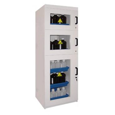 Ecosafe APC107 3 Door Tall Melamine Safety Cabinet for Acids and Bases