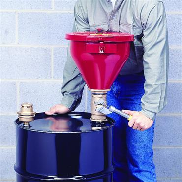 Justrite 08207 Safety Self-Close Steel Drum Funnel